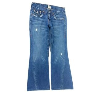 True Religion Twisted Flare Joey Jeans Size 30